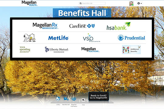 Virtual Benefits Fair Exhibit
