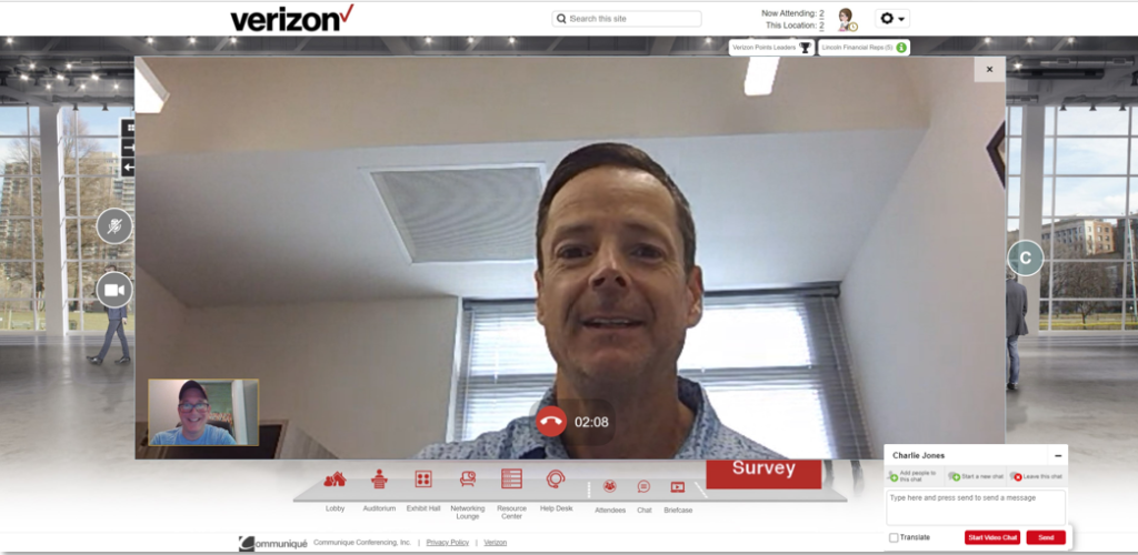 Virtual Booth Video Chat