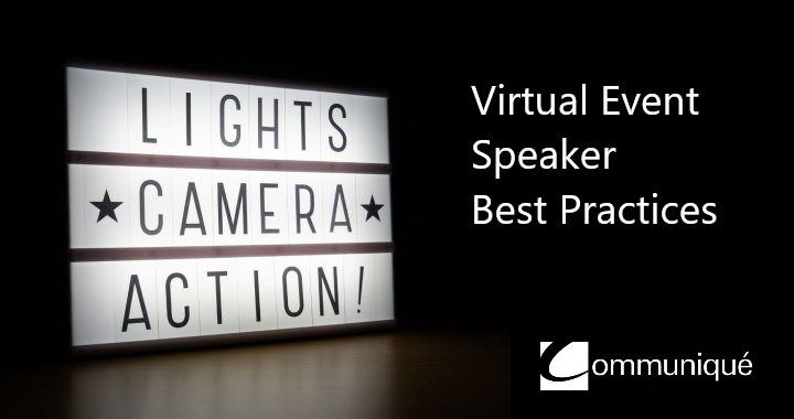 Virtual Event Speaker Tips